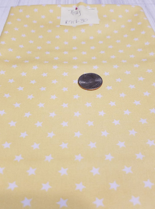 Remnant #917-30:  Cotton Woven: Yellow Stars 7/8y