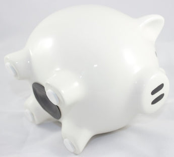 Ceramic Piggy bank with hole - stopper plug at bottom