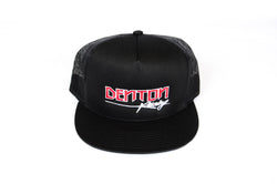 Denton Racing Black Logo Trucker Hat