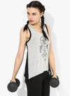 Spiritual Warrior Workout Yoga Athleisure Mesh Black Top