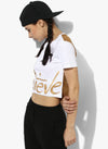 Spiritual Warrior Workout Yoga Athleisure cotton White Crop Top best activewear