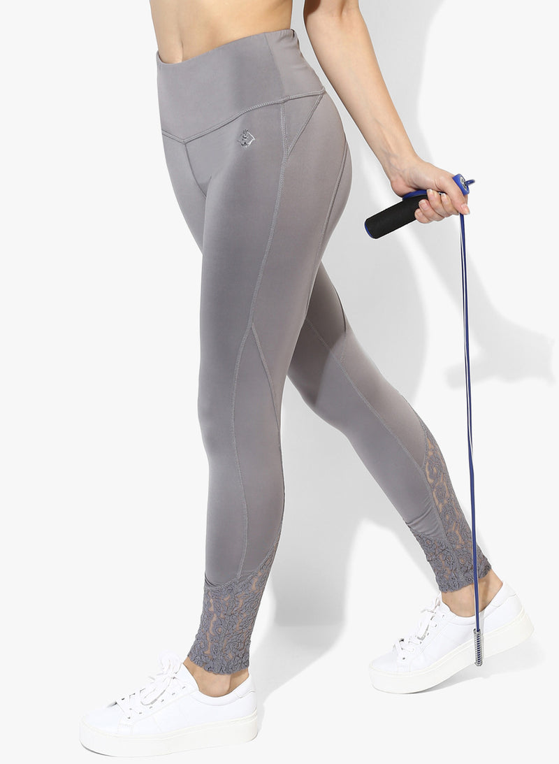 Spiritual Warrior gym Workout wear Yoga pants Athleisure Grey leggings