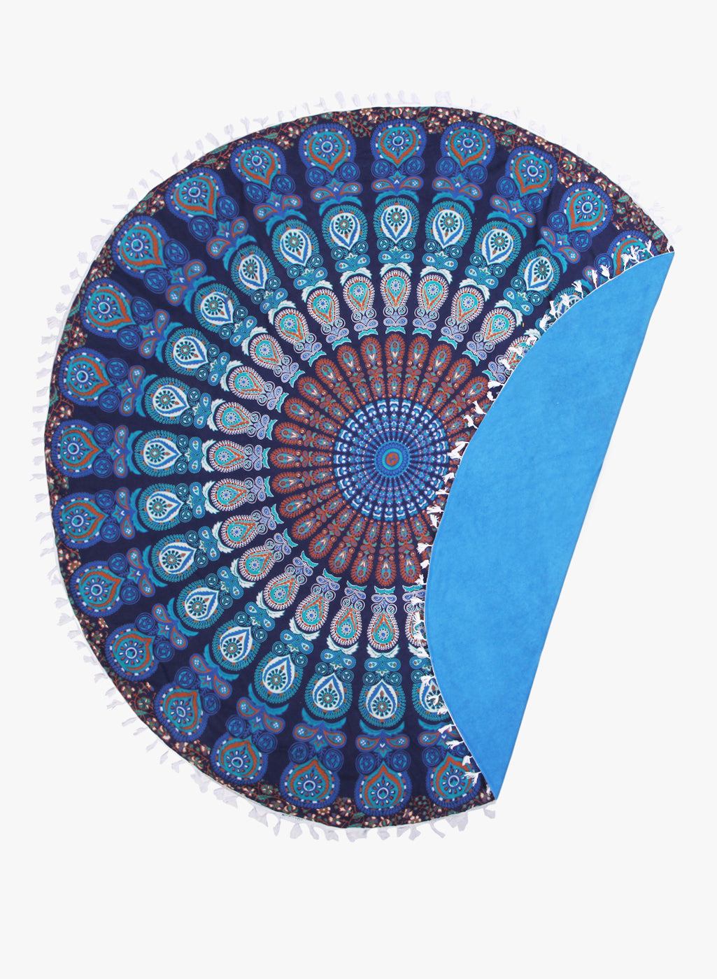 Spiritual Warrior blue round towels are both fun and high quality. These round mandala towels are the best summer accessory for the beach, picnic and as a throw.