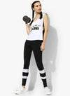 Spiritual Warrior Workout Yoga Athleisure Gym Black Top