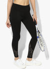 Spiritual Warrior Workout Yoga pants Athleisure Black lace leggings