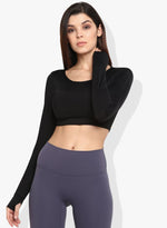 Shakti  Warrior Naira Crop Top Black