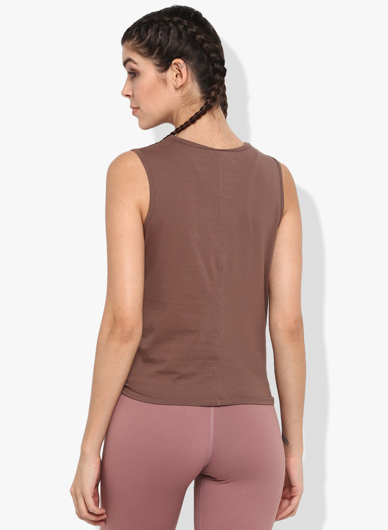 Shakti  Warrior Kaia Crop Top brown