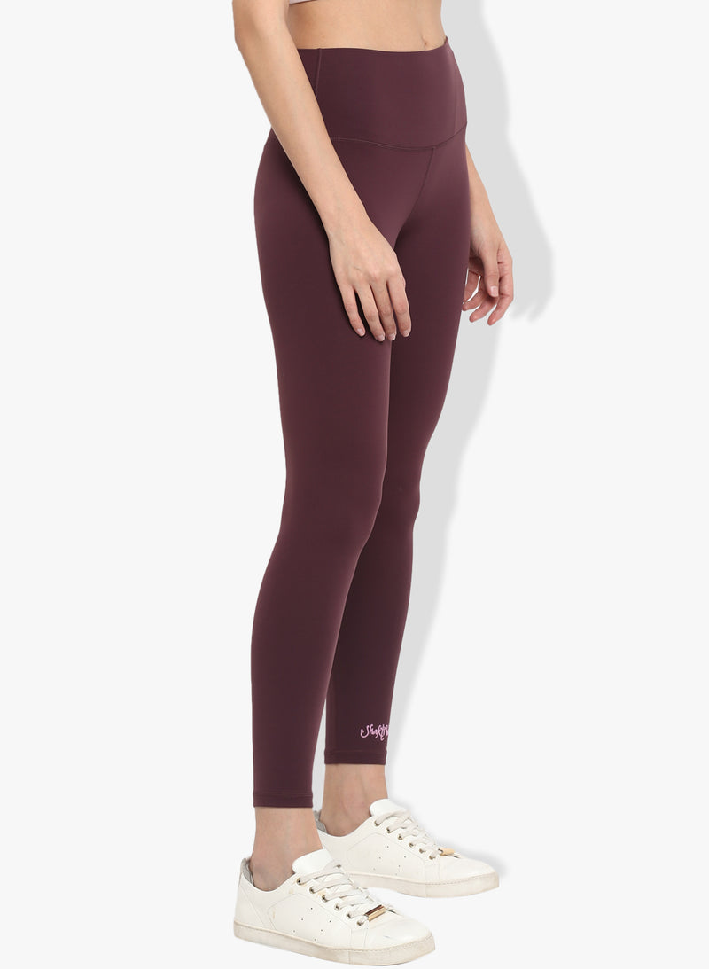 Spiritual Warrior Workout leggings yoga pants burgandy