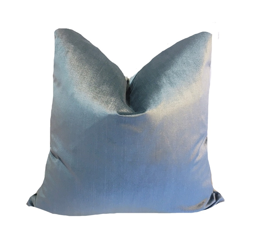 Federal Blue Velvet Pillow
