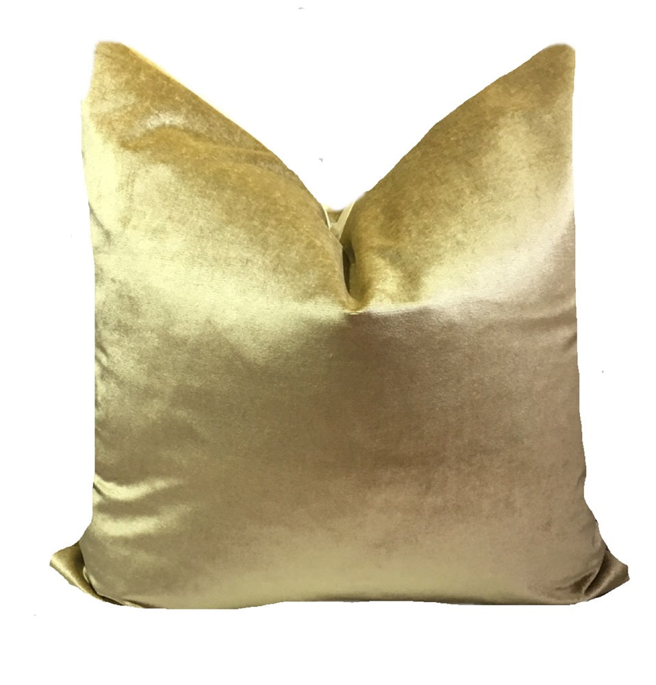 Gold Velvet Pillow Cover