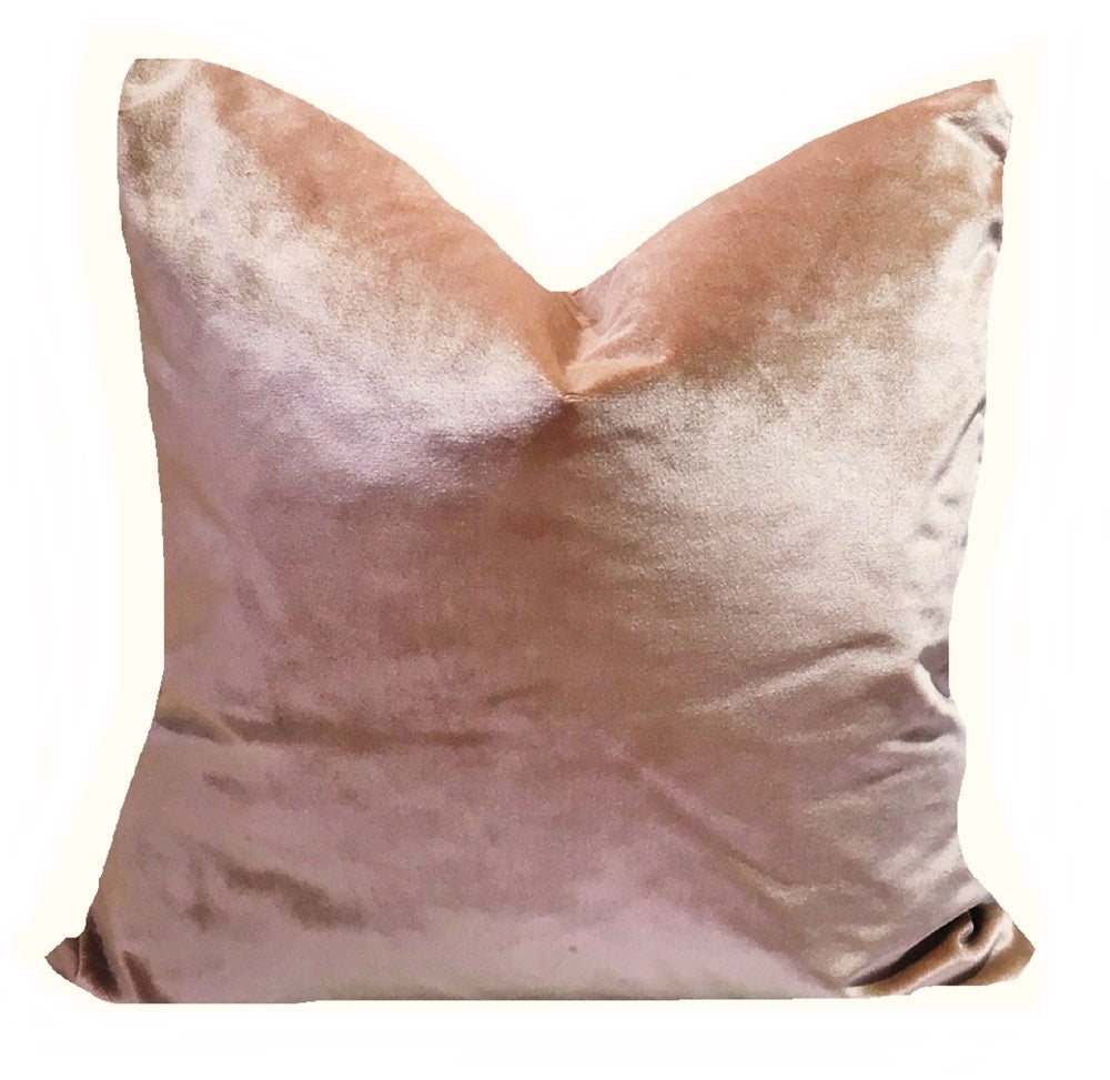 Riveira Rose Italian Silk Velvet Pillow