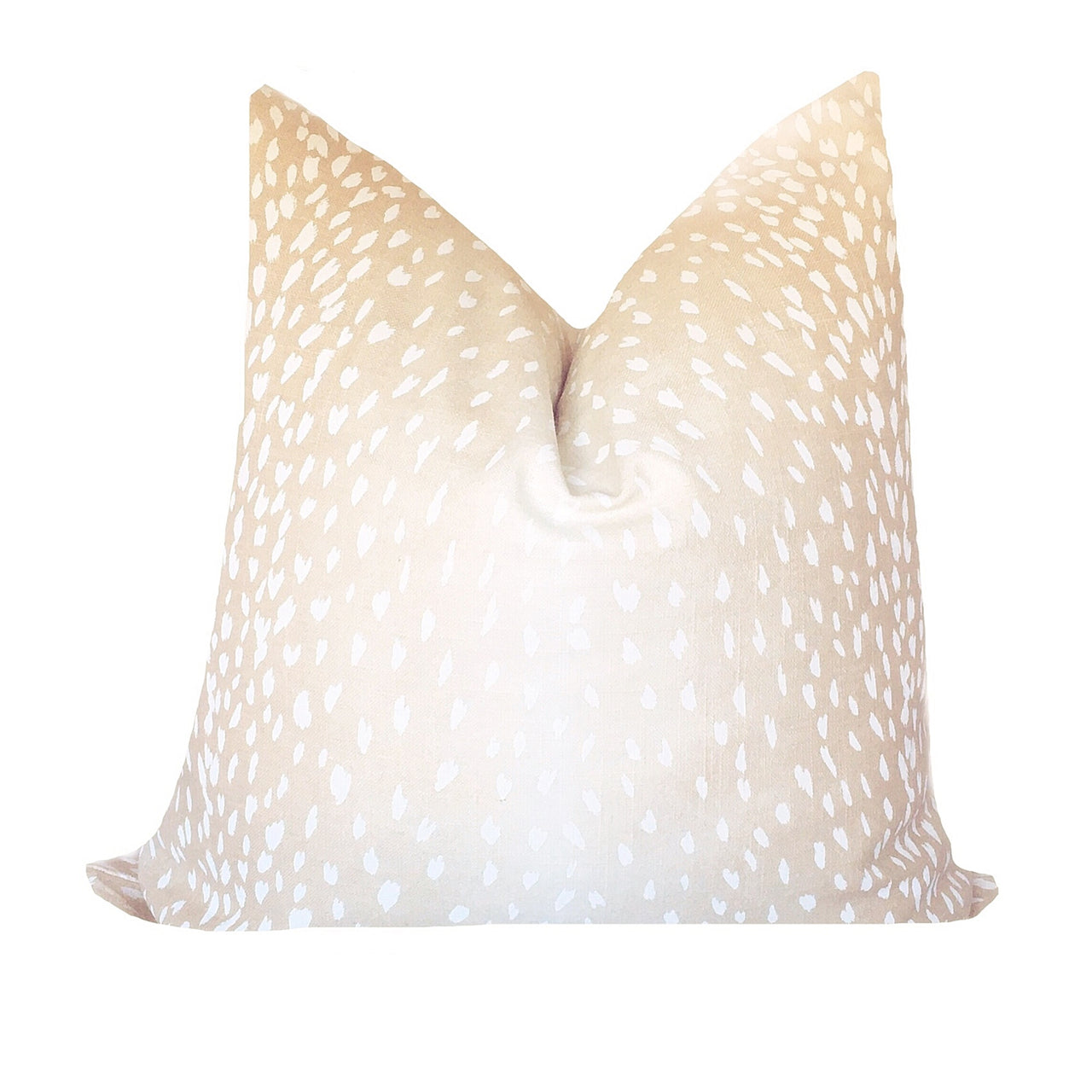 Champagne Antelope Print Linen Pillow Cover