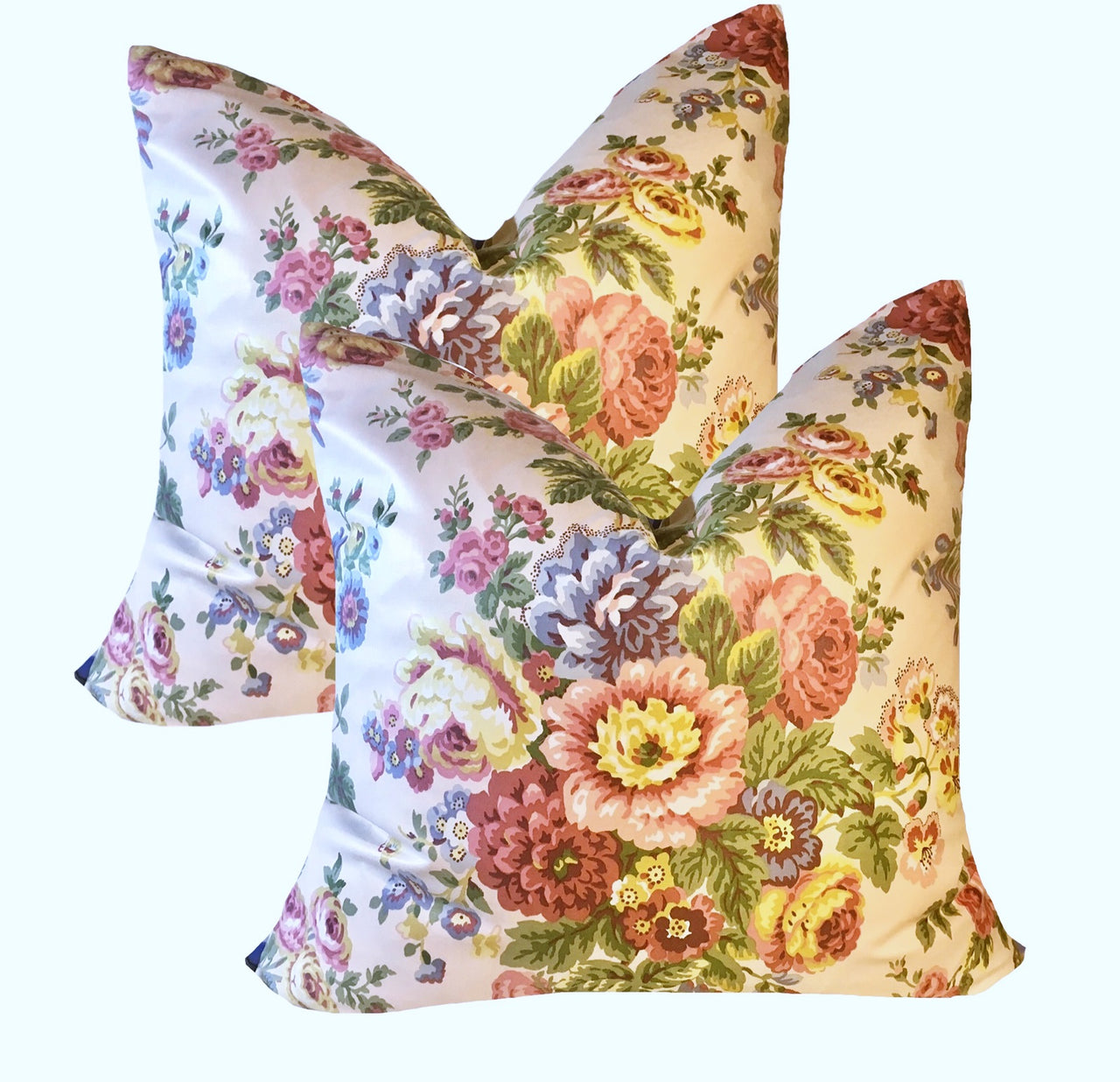 "24"" Vintage Waverly Pillow Covers"