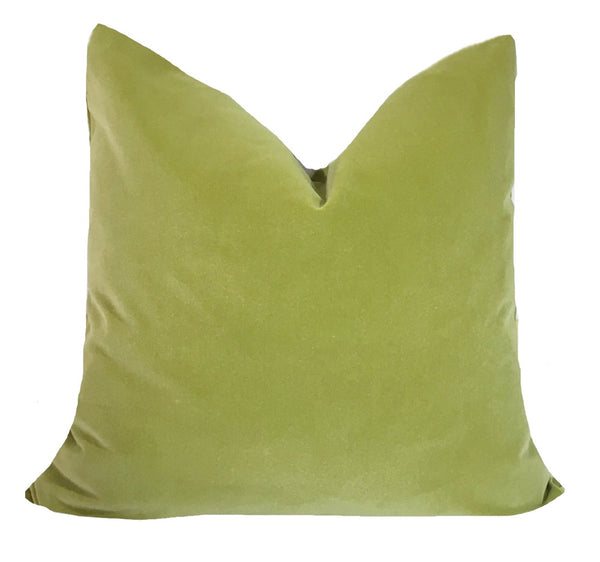 Pistachio Velvet Pillow Cover