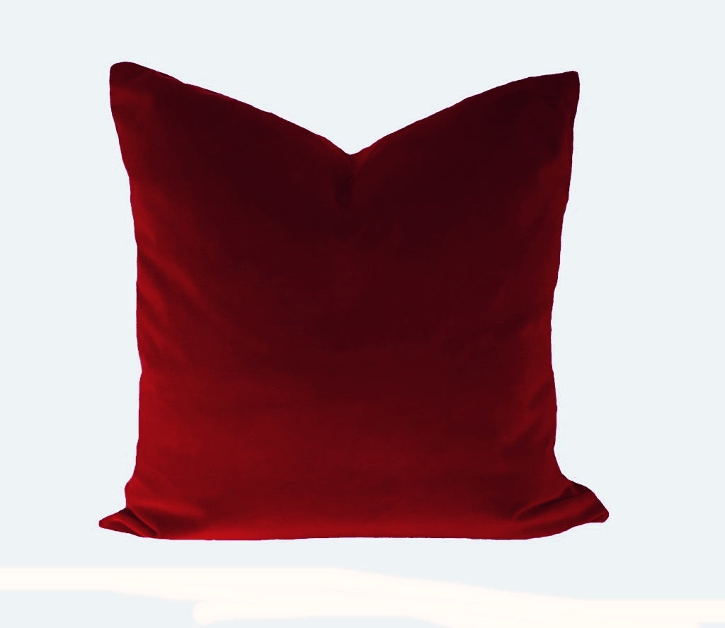 Lee Jofa Red Velvet Pillow