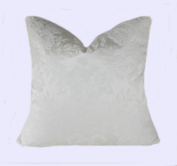 white brocade pillow