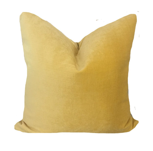 custom yellow velvet pillow
