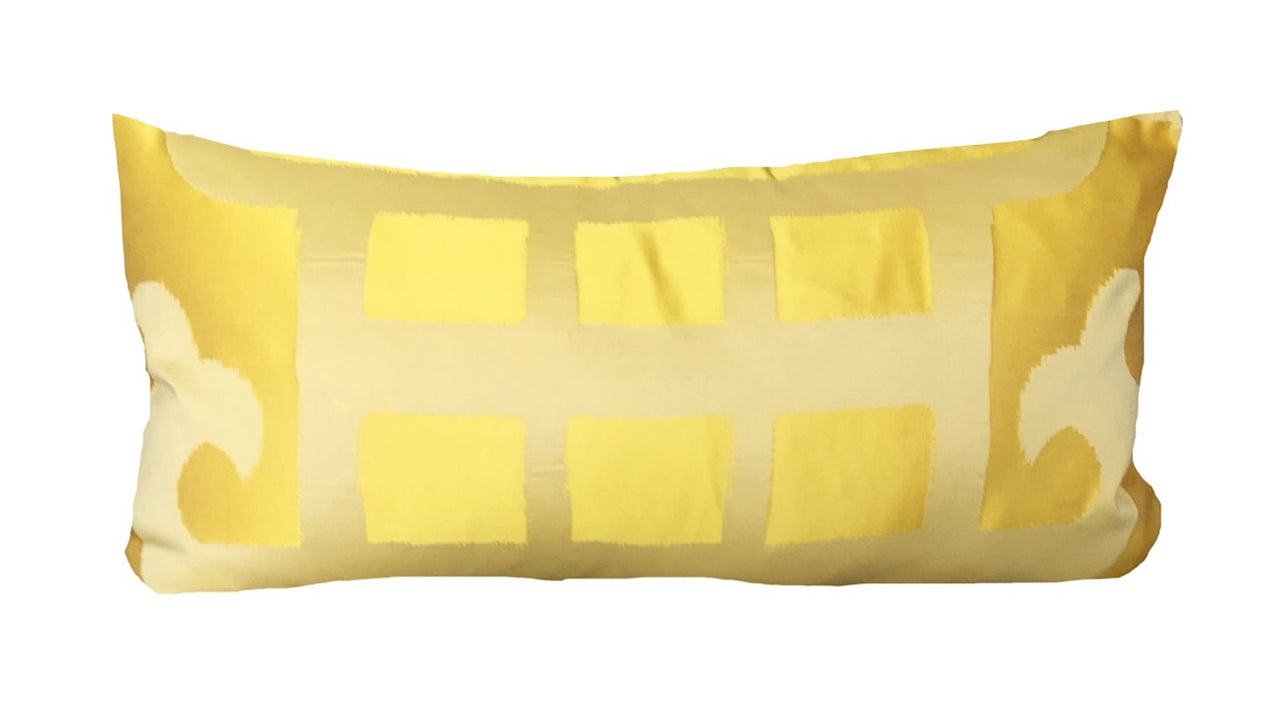 Marrakesh Yellow Silk Lumbar Pillow