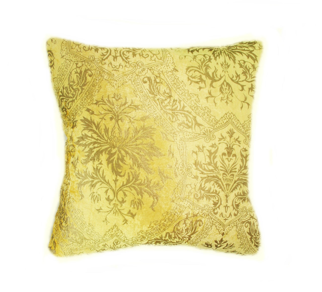 Stunning Yellow and Gold Venetian Velvet Pillow