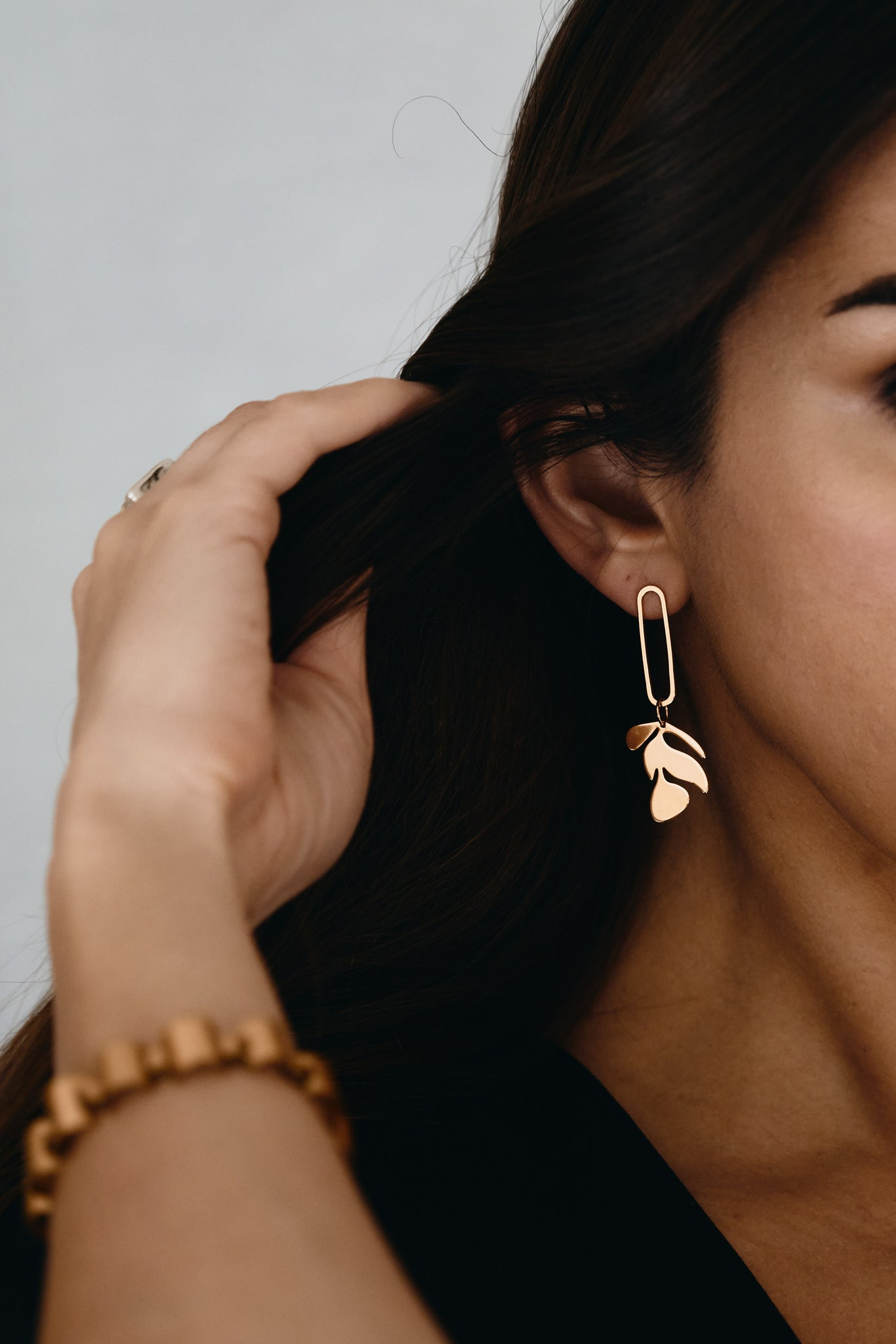 Gold Matisse Leaf Earring