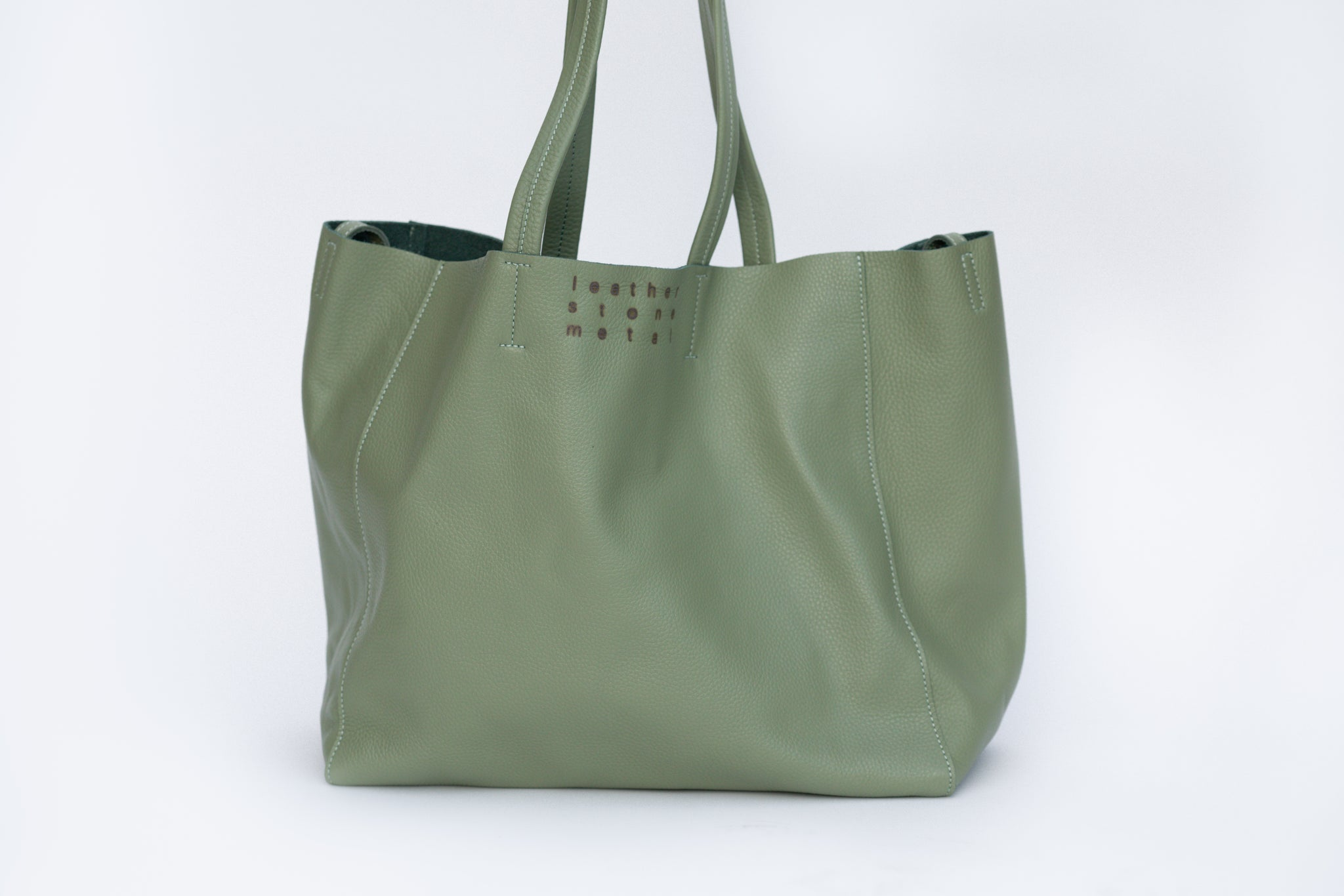 Moss Leather Tote