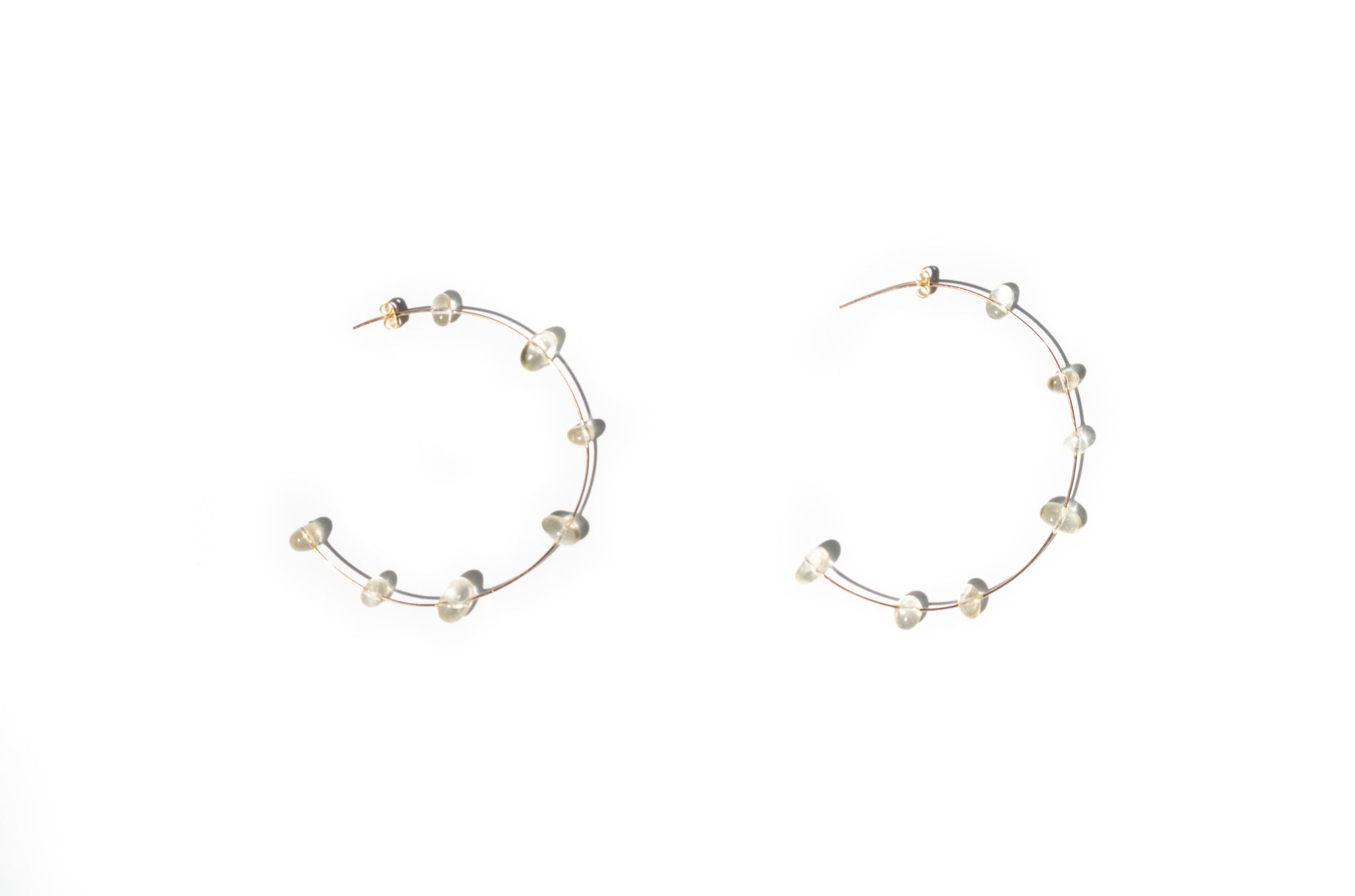 Large Citrine Hoops