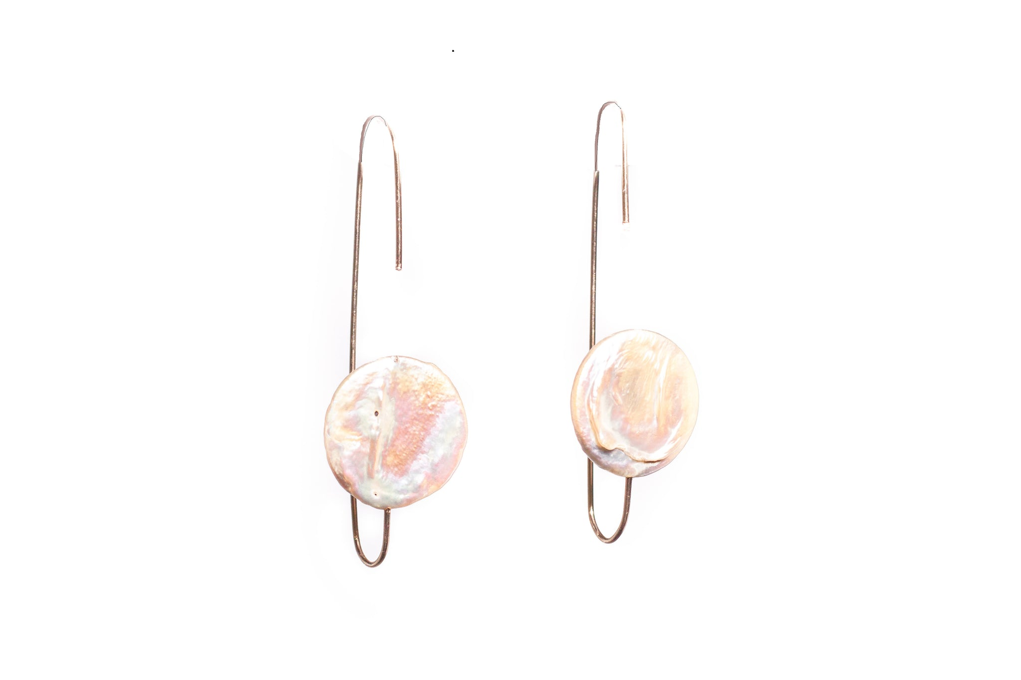 Coin Pearl Reverse Earrings