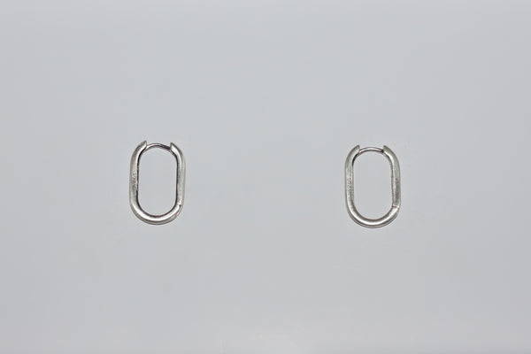Brushed Oval Earring