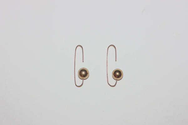 Gold reverse earrings