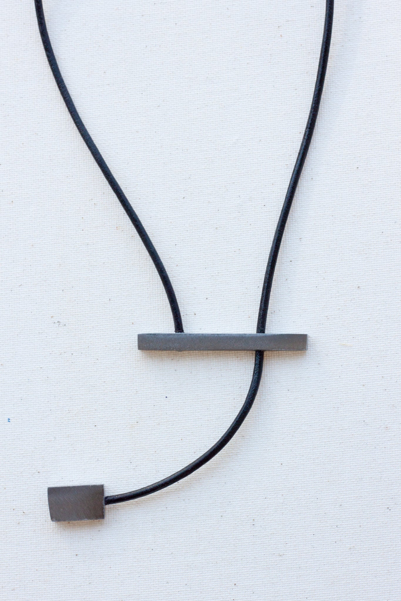 Matte Steel Kinetic Necklace