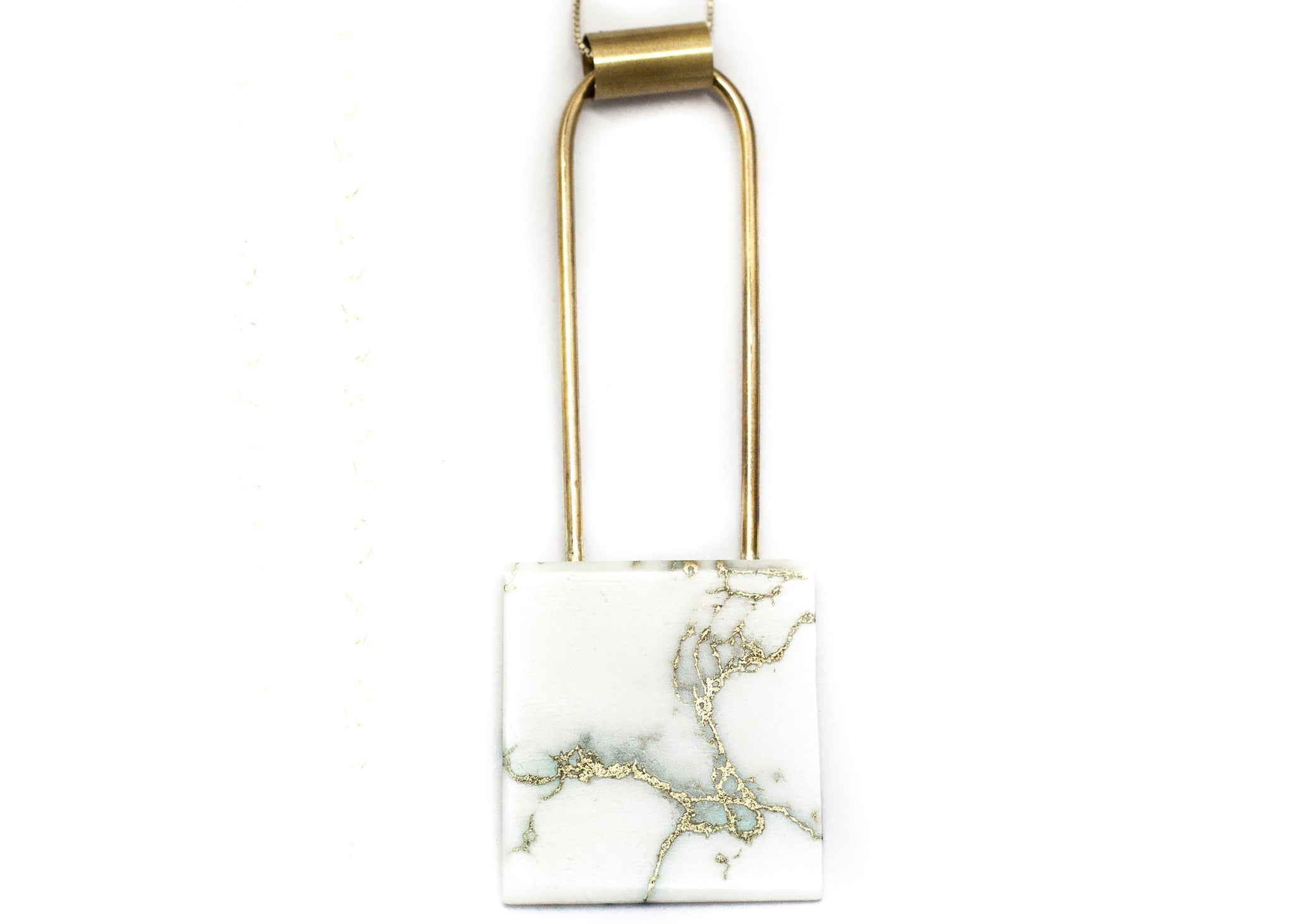Marble tile pendent
