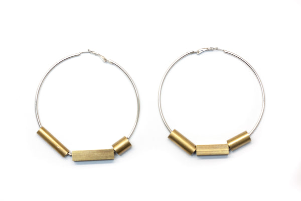 brass Industrial hoops, Large
