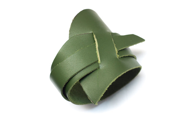 Leather Obi Leaf cuff