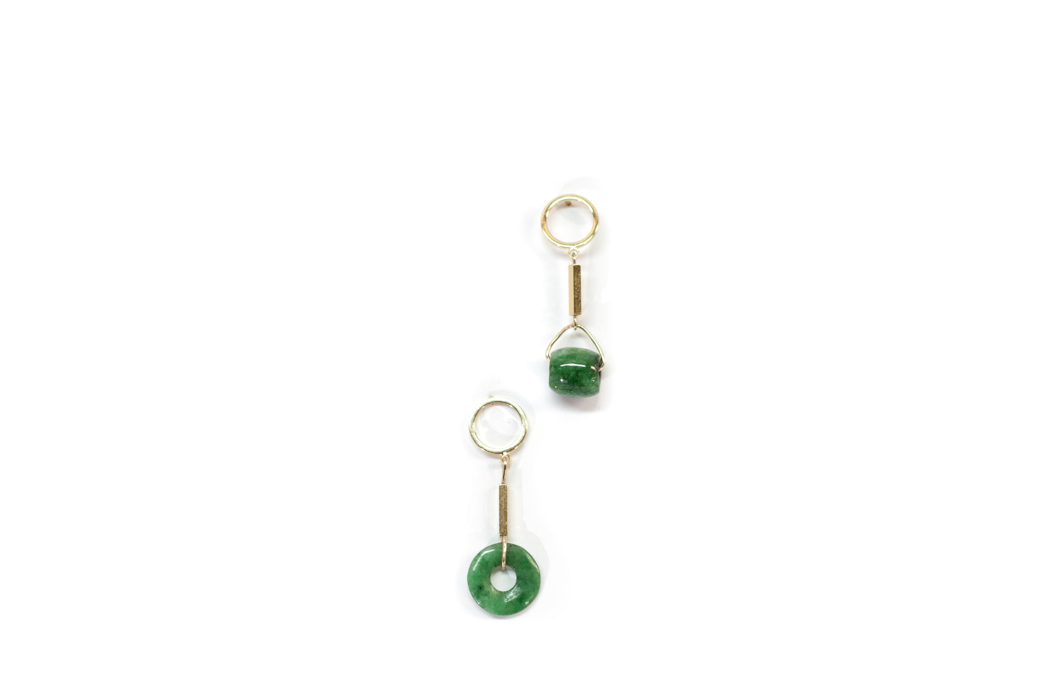 Dark green jade charm