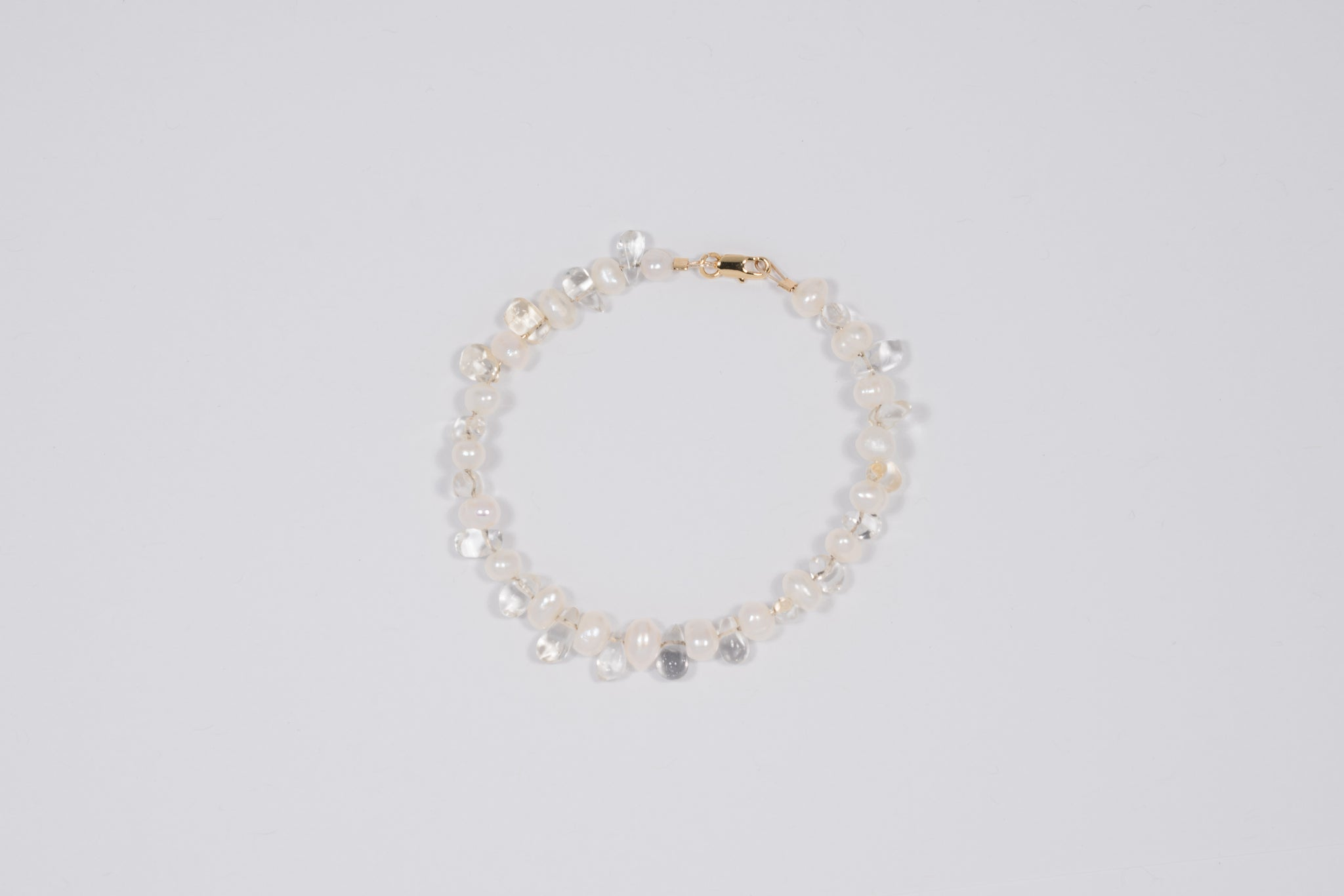 Citrine and Freshwater Pearl Bracelet