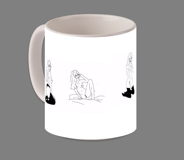 11oz B&W minimalist coffee mug