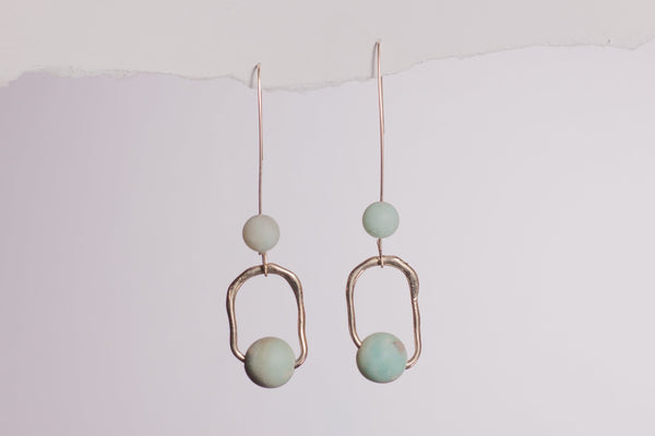 Amazonite Dangle loops