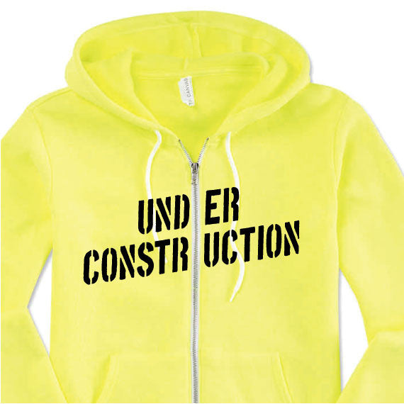 under construction workout sweatshirt