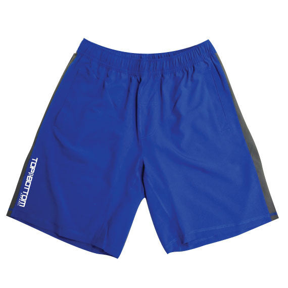 mens gym shorts blue