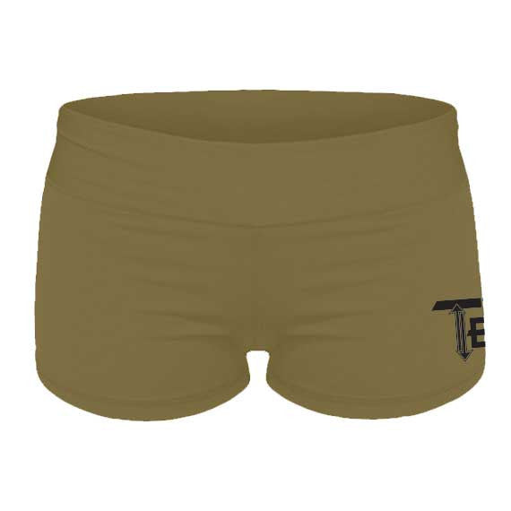 Army Green FLEX Womens Gym Shorts