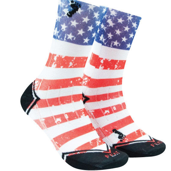 american flag tall gym socks