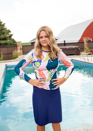 Modest women's athletic and swimwear