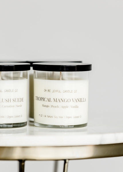 Sweet soy candles