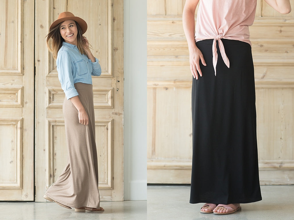 Maxi skirt staple -Inheritco