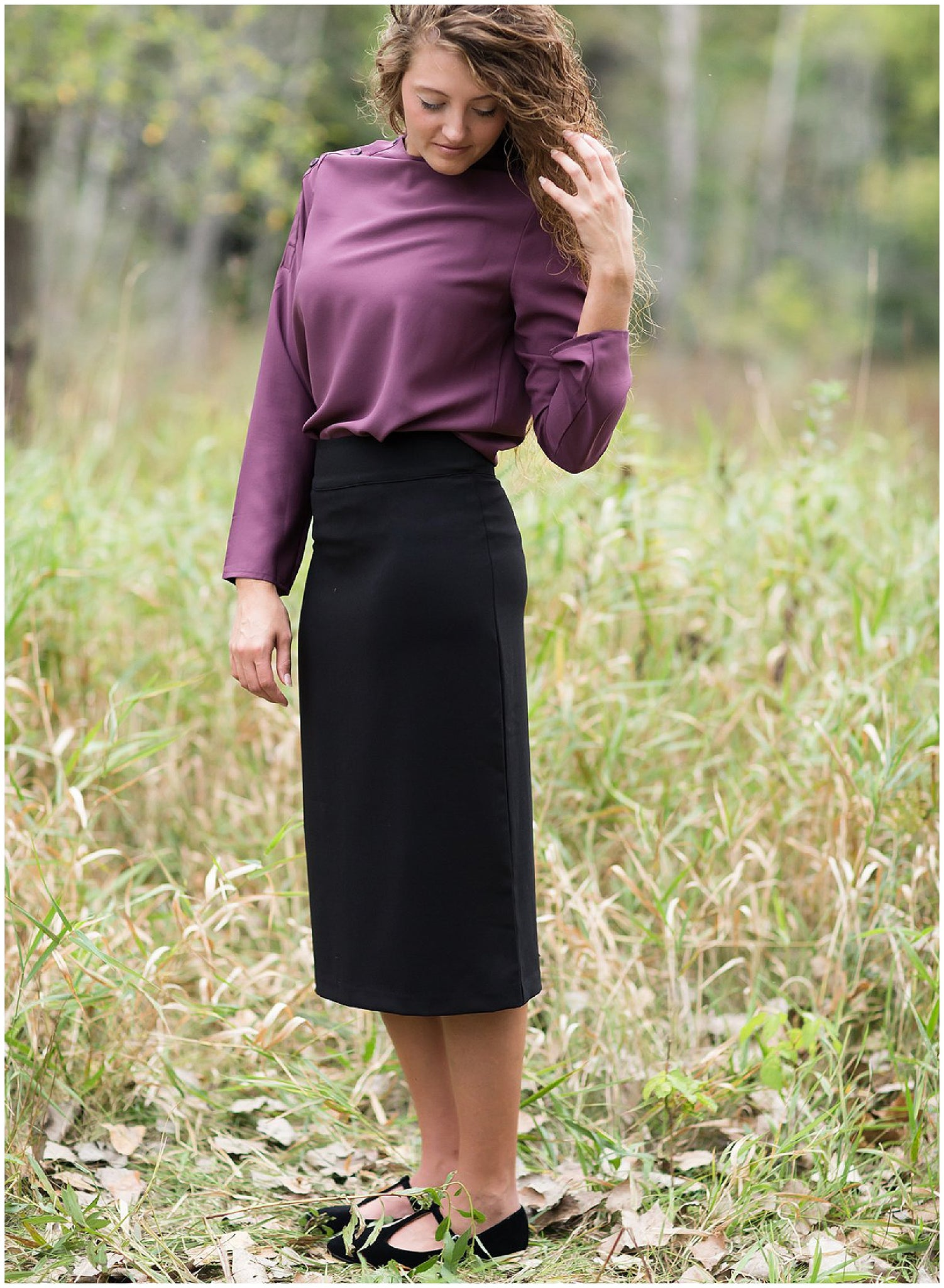 Modest Classic Black Skirt