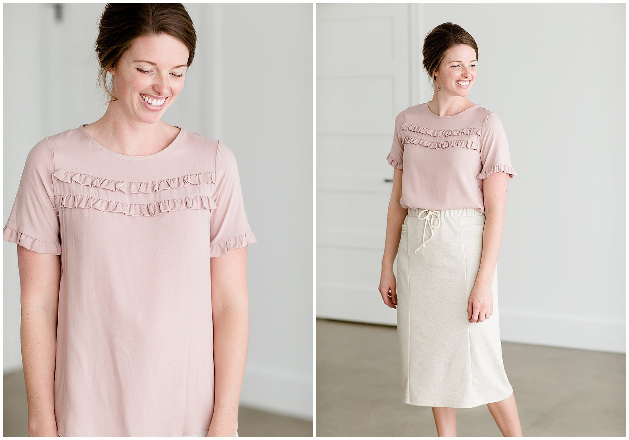 Modest Women's Pink Blouse