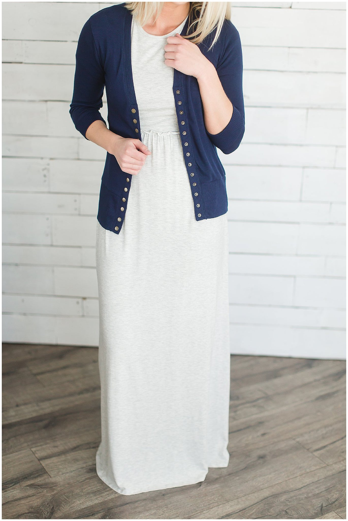 Women's Modest Maxi Dress and Cardigan