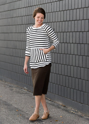 Multi Striped ¾ Sleeve Top