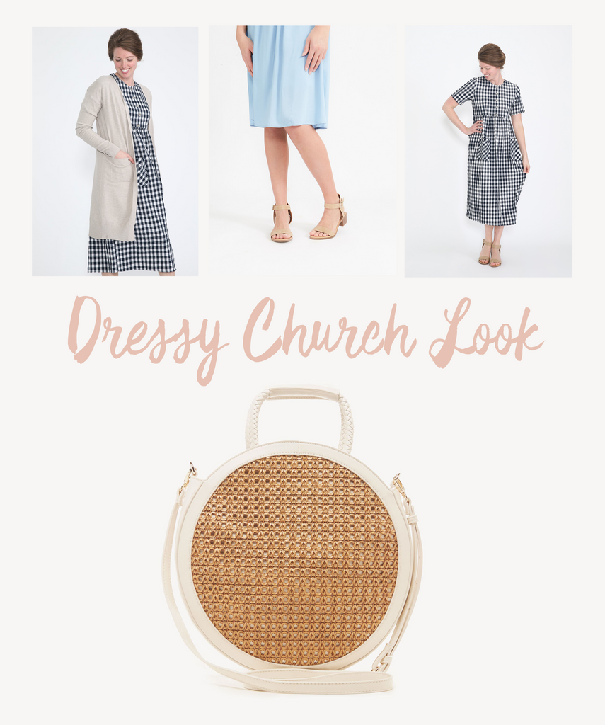 Dressy modest church look from Inherit Co. Modest Fashion Blog