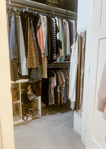 Modest Closet Clean Out Before